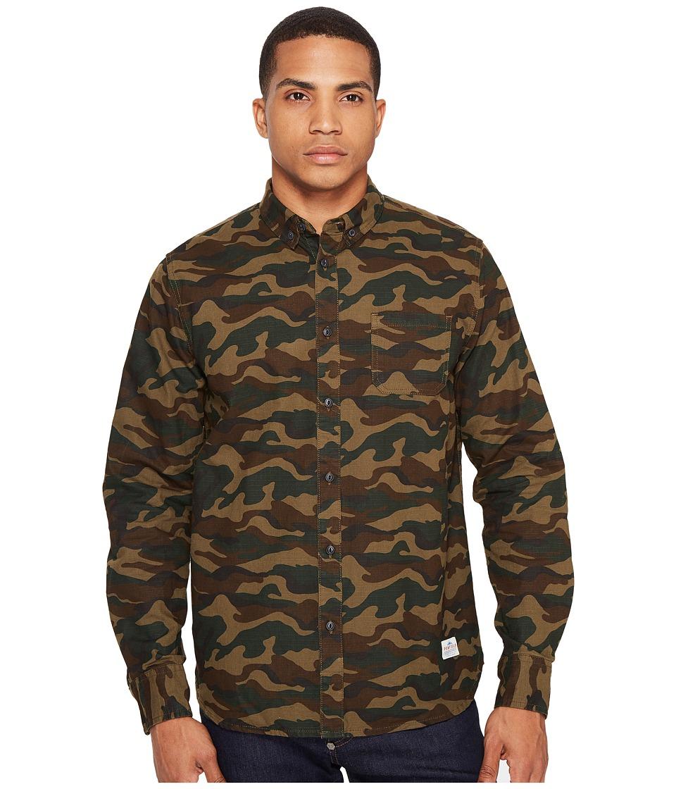 Penfield - Gridley Camo Shirt (Olive) Men's T Shirt