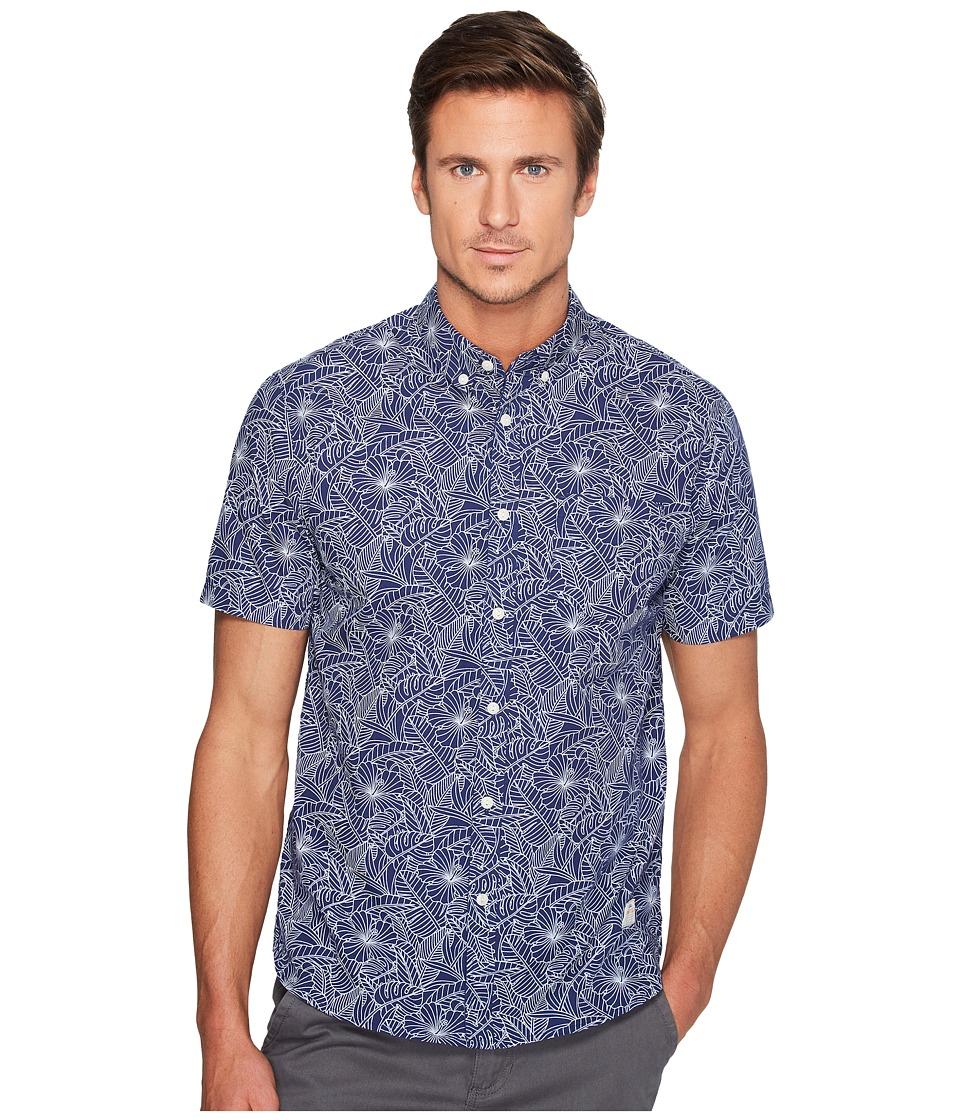 Penfield - Cuyler Line Leaf Short Sleeve Shirt (Blue) Men's Short Sleeve Pullover