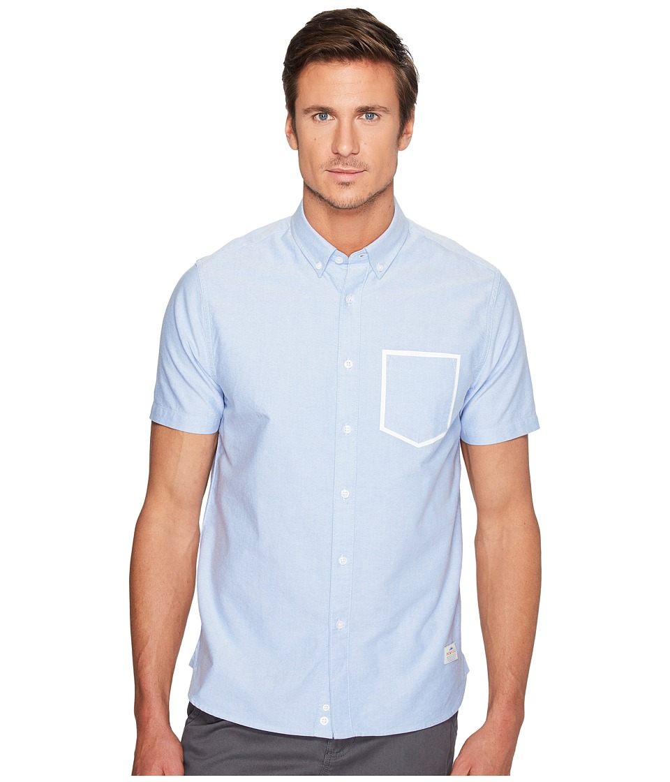 Penfield - Fenton Short Sleeve Shirt (Blue) Men's Short Sleeve Pullover