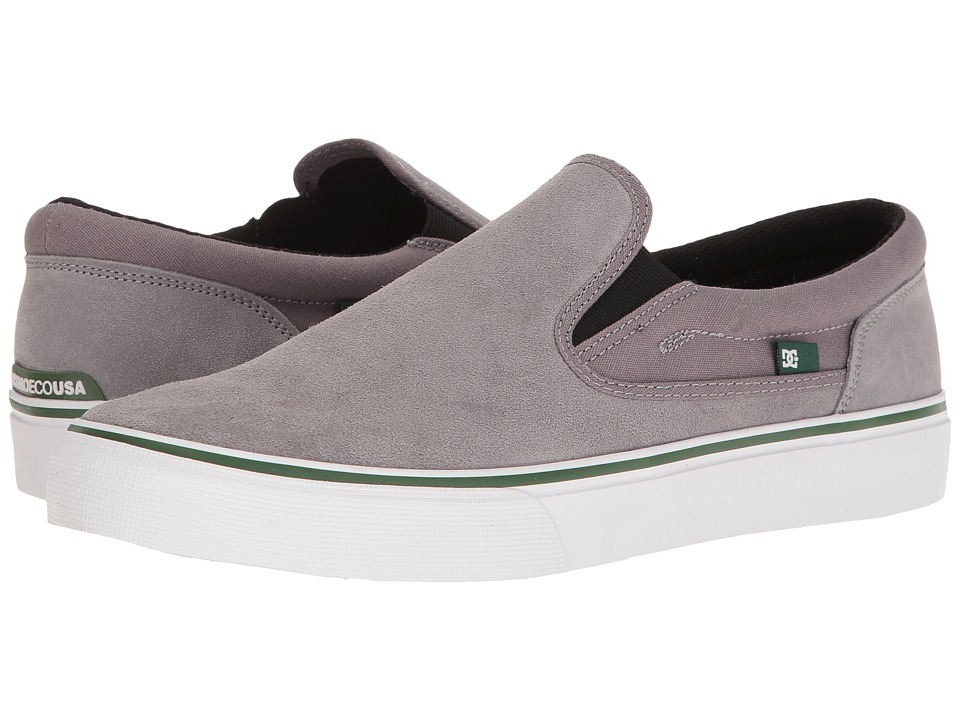DC - Trase Slip-On SD (Grey/Green) Skate Shoes