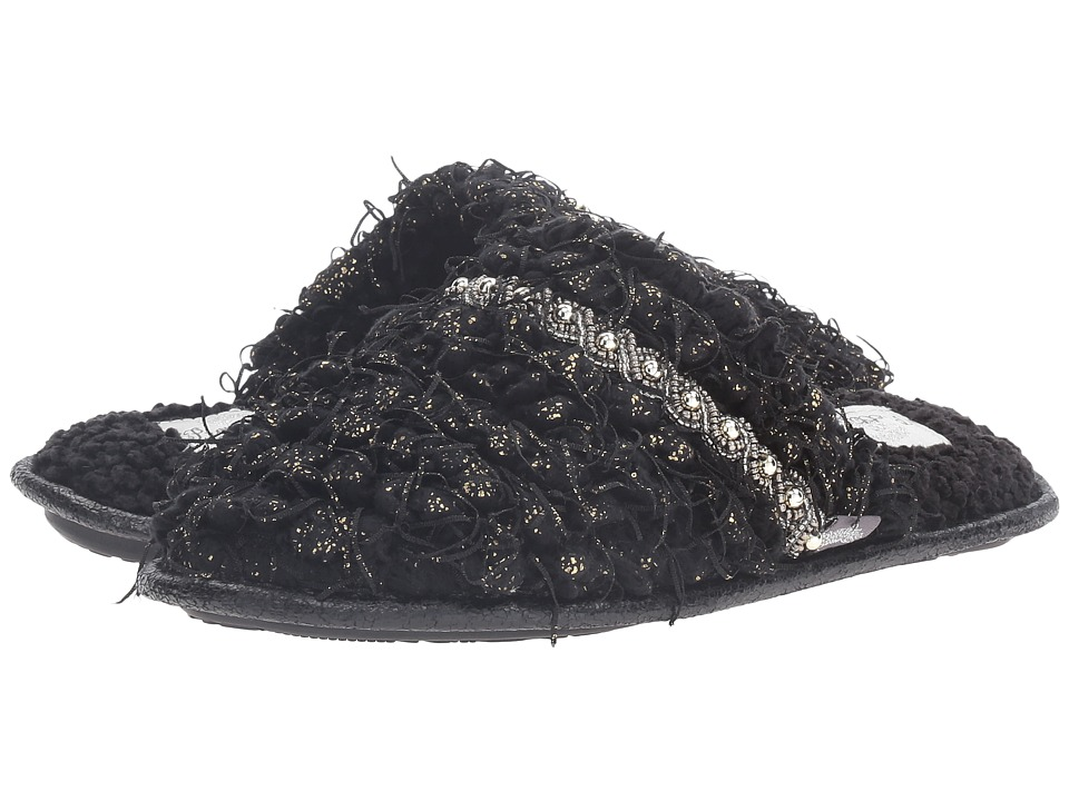 Pretty You London - Stella (Black) Women's Slippers