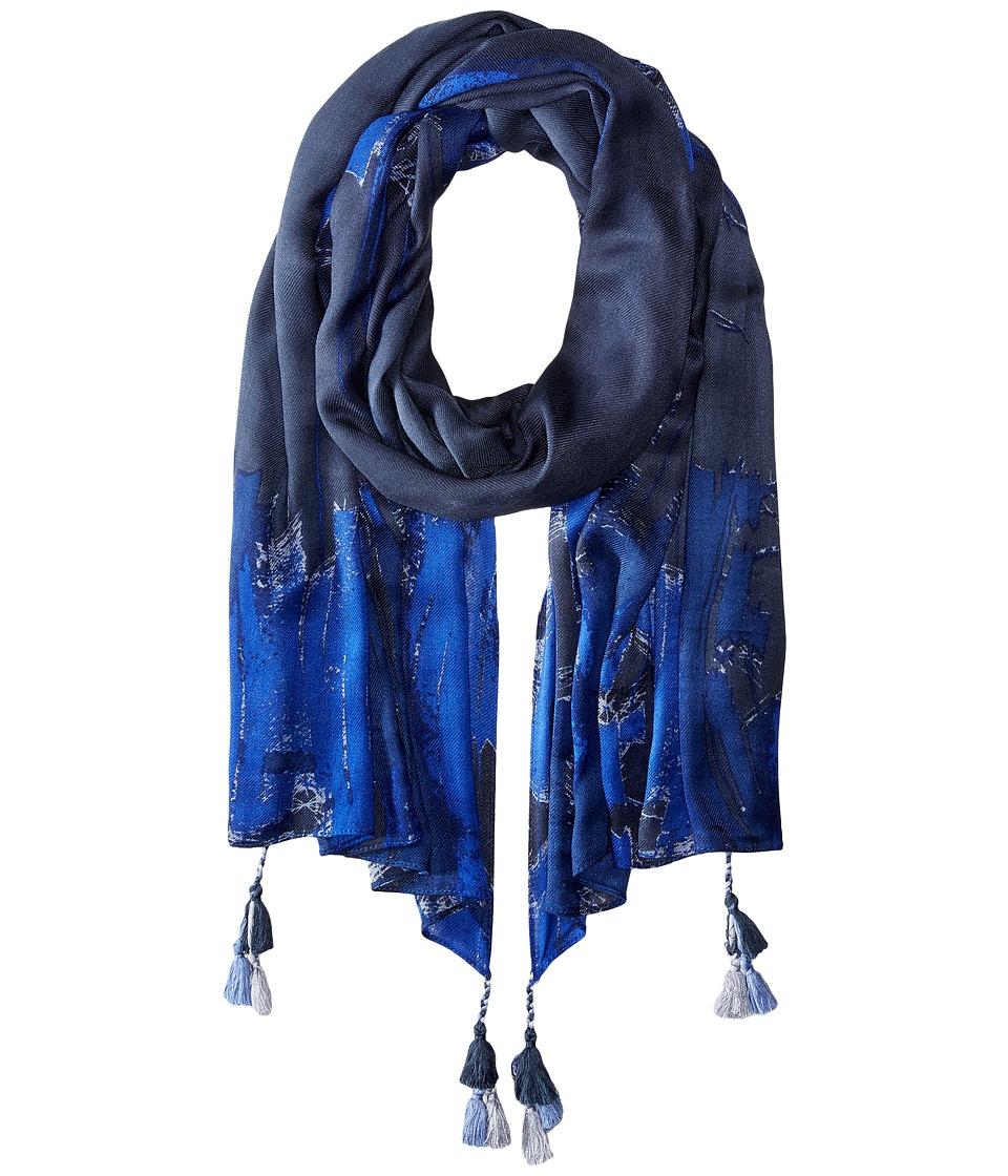 BCBGMAXAZRIA - Texture Wrap (Chambray) Scarves