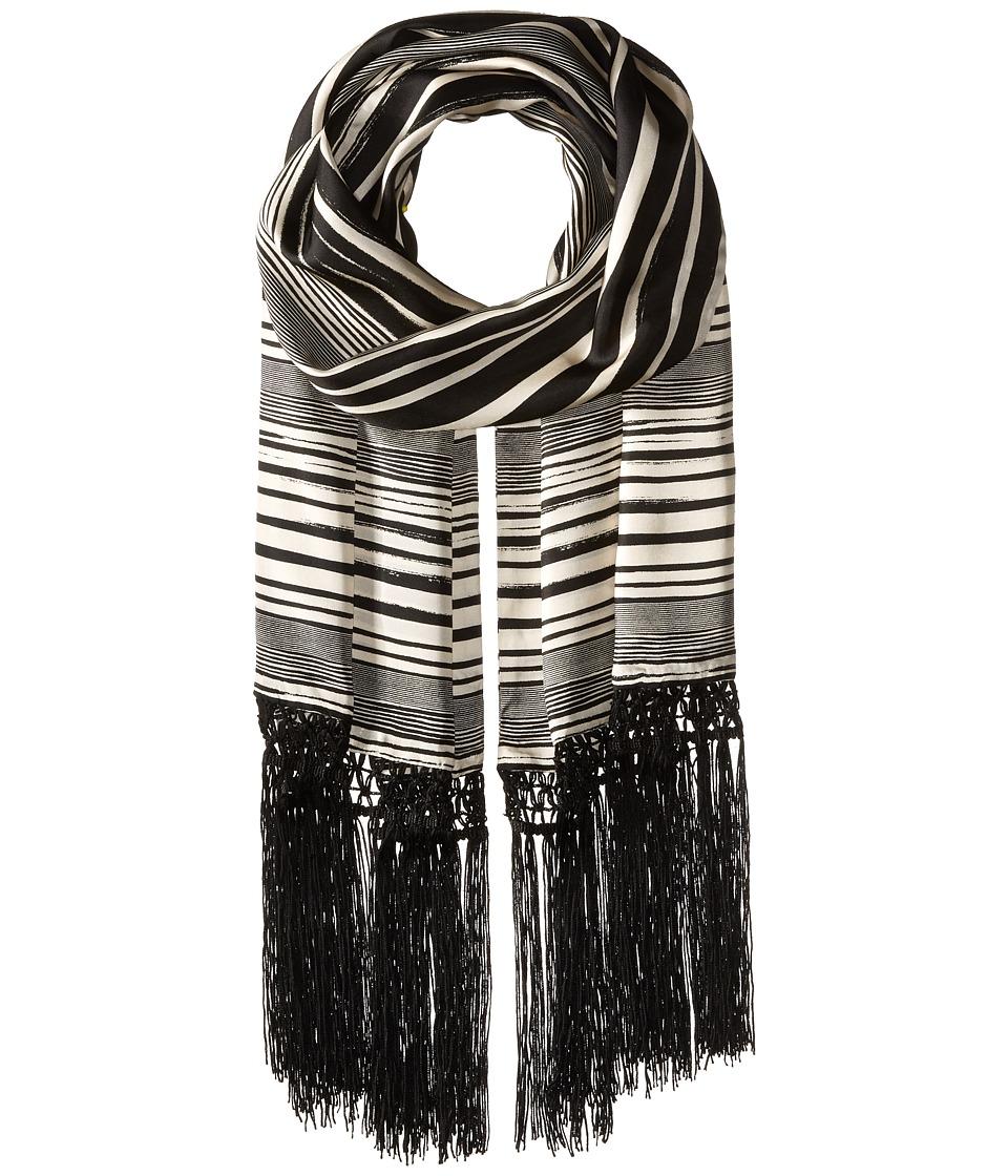 BCBGMAXAZRIA - Stripe Skinny (Black/Ivory) Scarves