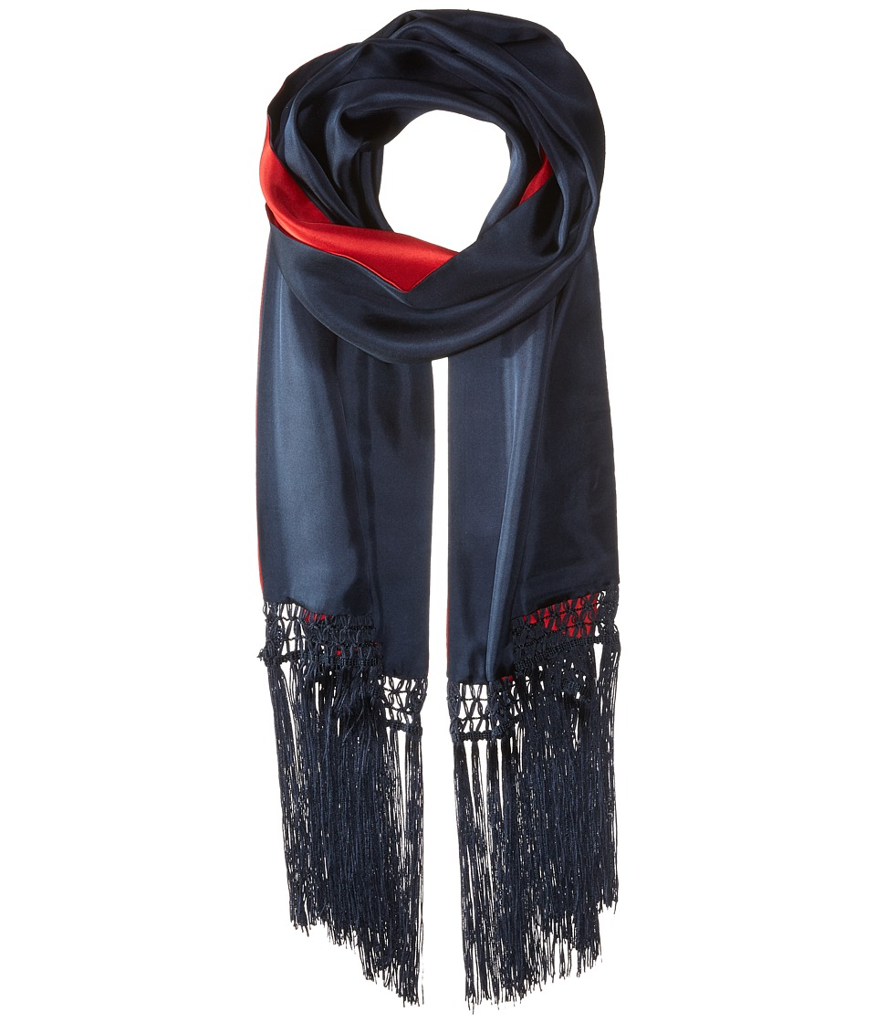 BCBGMAXAZRIA - Reversible Block Skinny (Navy/Red) Scarves