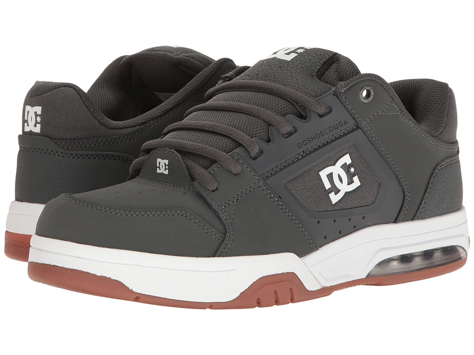 DC - Rival (Grey/Gum) Men's Skate Shoes