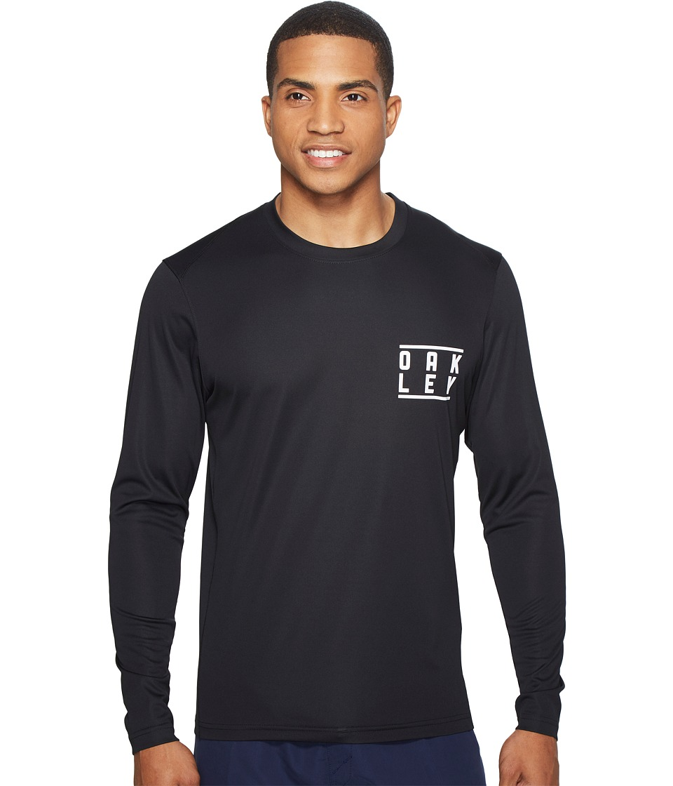 Oakley - Long Sleeve Surf Tee (Blackout) Men's Swimwear