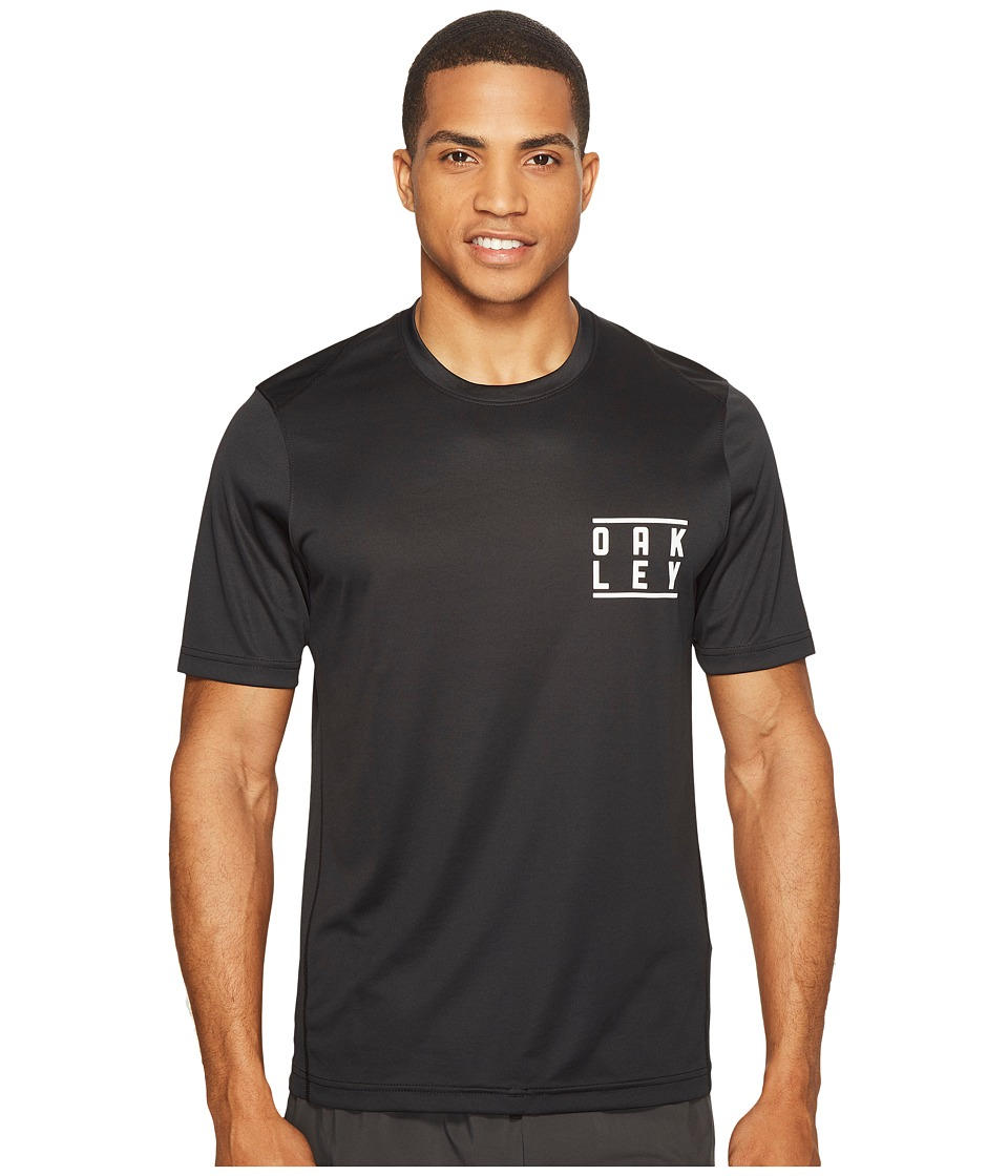 Oakley - Short Sleeve Surf Tee (Blackout) Men's Swimwear