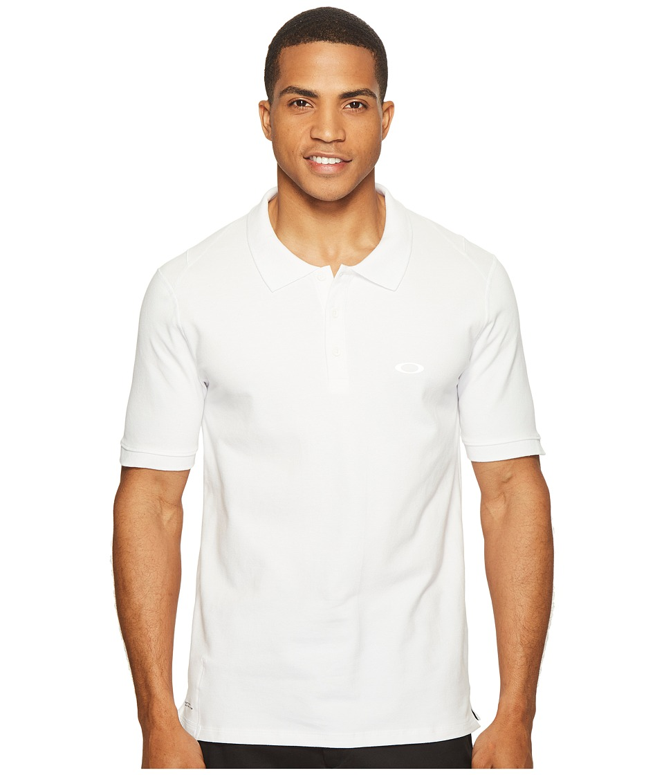 Oakley - Icon Short Sleeve Polo (White) Men's Short Sleeve Pullover
