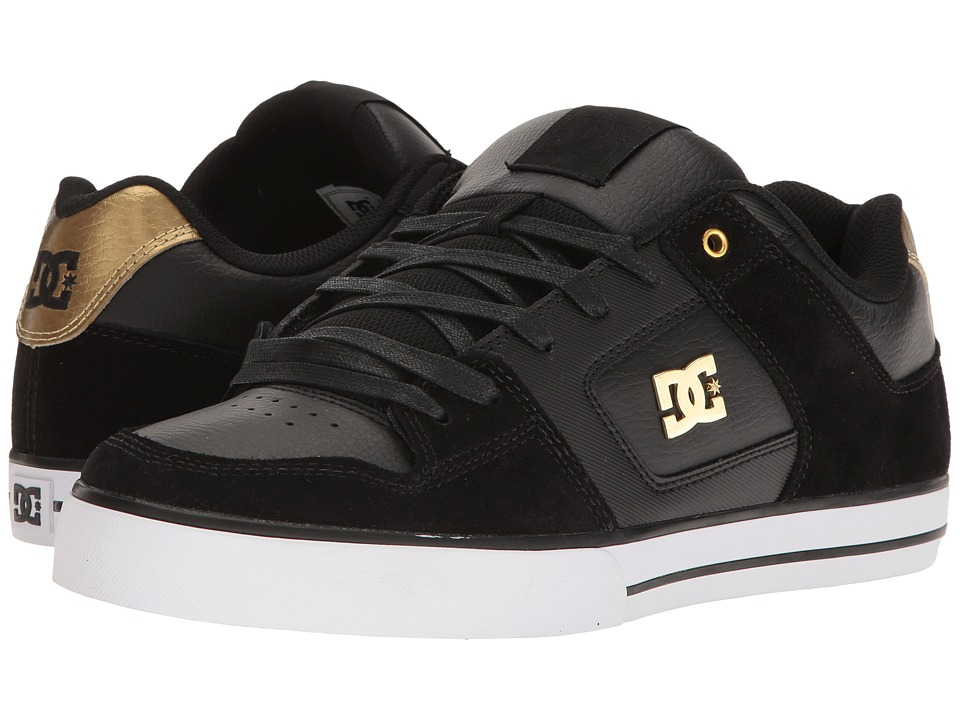 DC - Pure SE (Black/Gold) Men's Skate Shoes