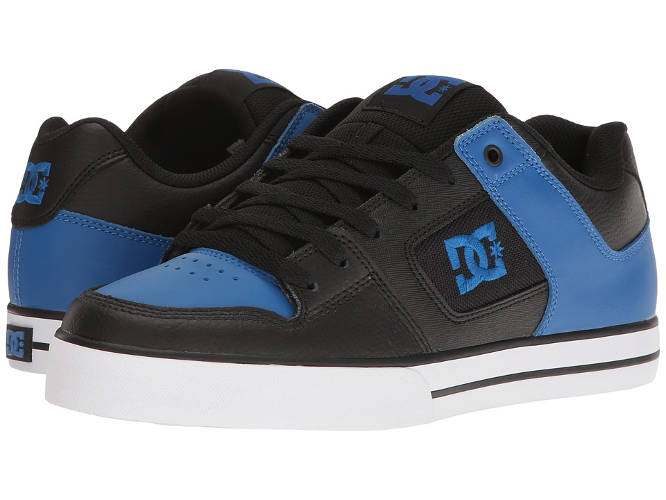 DC - Pure (Black/Blue/White) Men's Skate Shoes
