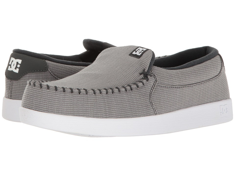 DC - Villain TX (Grey/White) Men's Skate Shoes