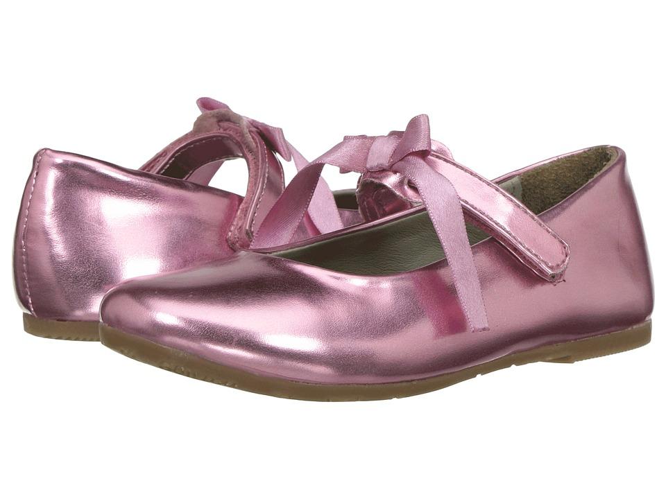 Pazitos - Classic Ballerina MJ PU (Toddler/Little Kid) (Pink 1) Girls Shoes