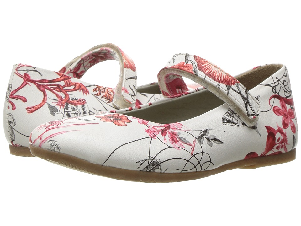 Pazitos - AA Print MJ (Toddler/Little Kid) (Red Floral) Girl's Shoes