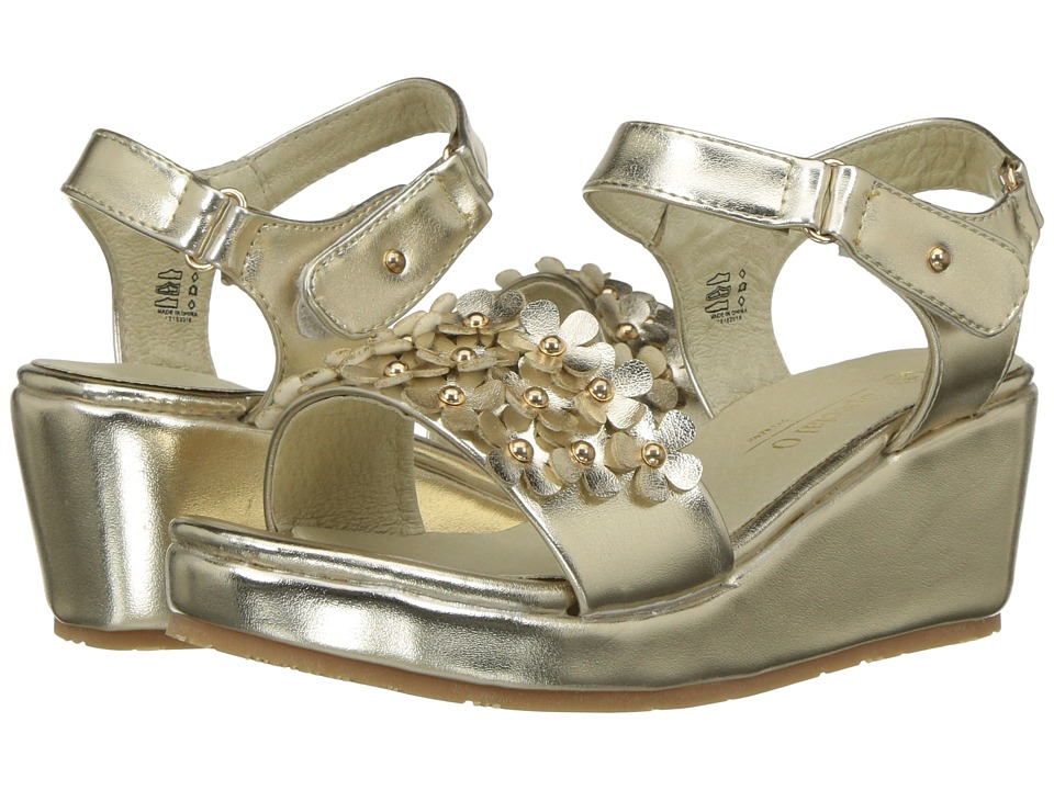 Pazitos - Flower Potpourri (Little Kid/Big Kid) (Gold) Girl's Shoes
