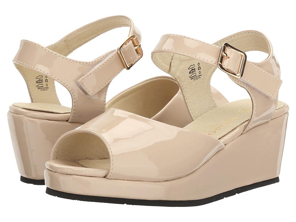 Pazitos - Peep Toe Platform (Little Kid/Big Kid) (Au Natural) Girl's Shoes