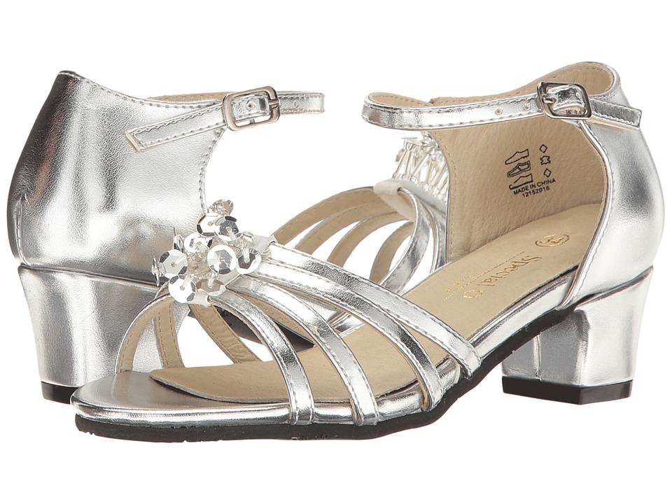 Pazitos - Stardust Sandal (Little Kid/Big Kid) (Silver) Girls Shoes