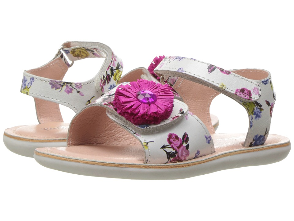 Pazitos - Mini Girasole (Toddler) (Fuchsia Floral) Girl's Shoes