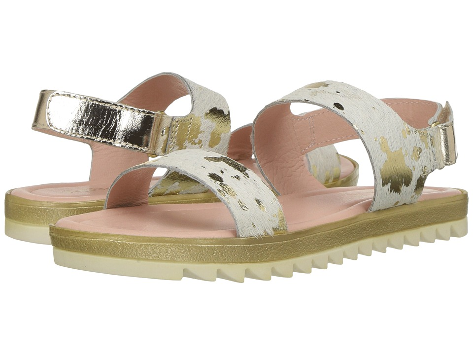 Pazitos - Glow Sandal (Little Kid/Big Kid) (Gold Pony) Girls Shoes