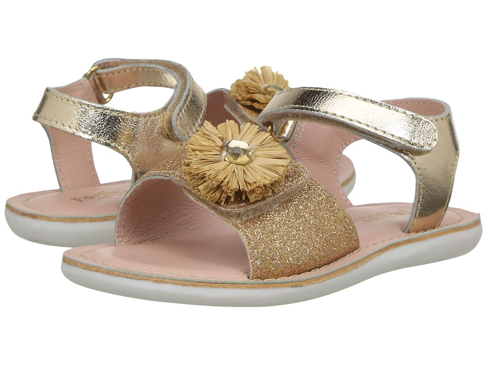 Pazitos - Mini Girasole (Toddler) (Gold) Girl's Shoes