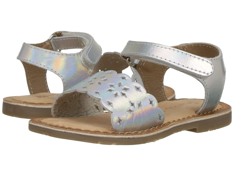 Pazitos - Tic-Tac-Toe (Toddler) (Silver) Girl's Shoes