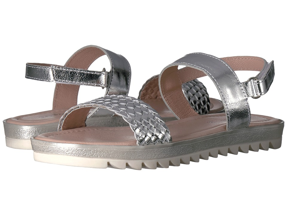 Pazitos - Braided Sandal (Little Kid/Big Kid) (Silver) Girls Shoes