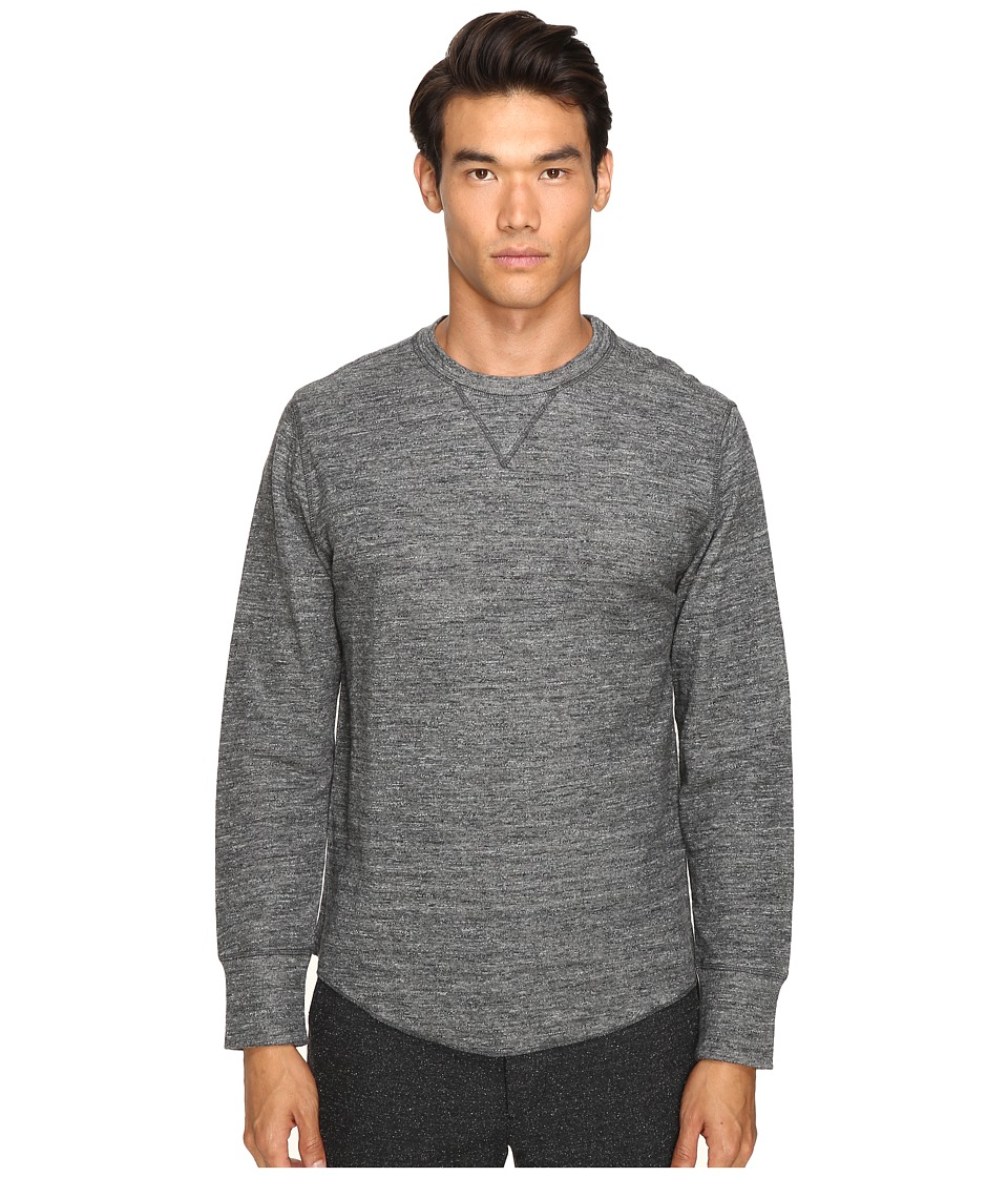 Todd Snyder - Heather Double Knit Long Sleeve (Charcoal Heather 2) Men's T Shirt