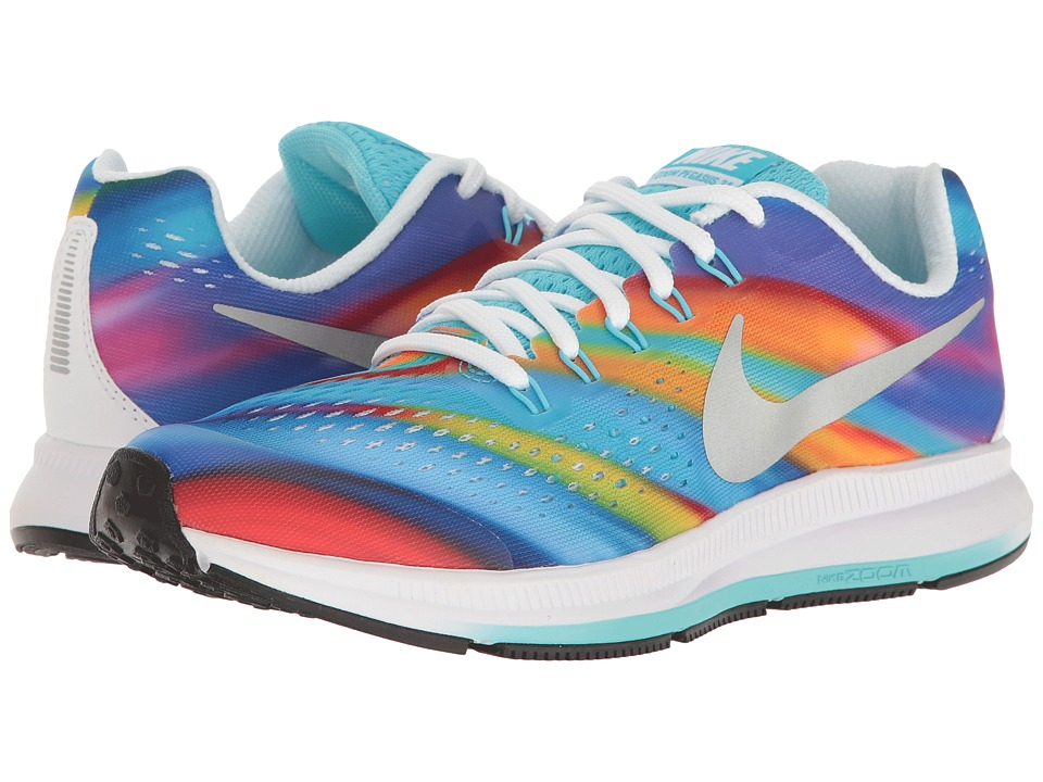 Nike Kids - Zoom Pegasus 34 Print (Little Kid/Big Kid) (White/Polarized Blue/Light Photo Blue/Black) Girls Shoes
