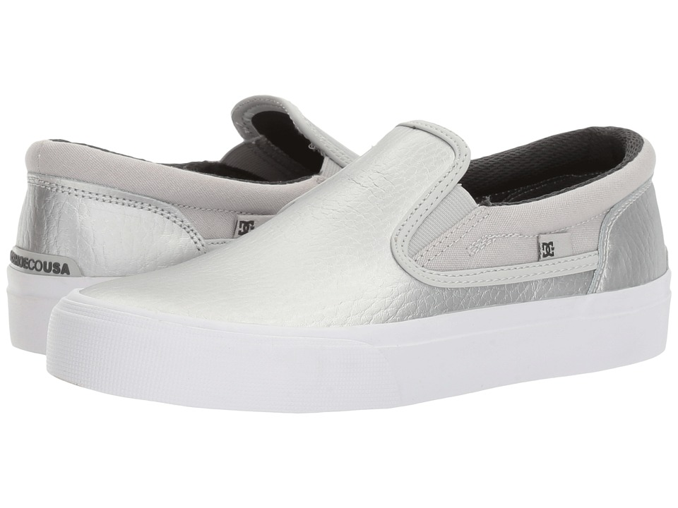 DC - Trase Slip-On SE (Silver) Women's Skate Shoes