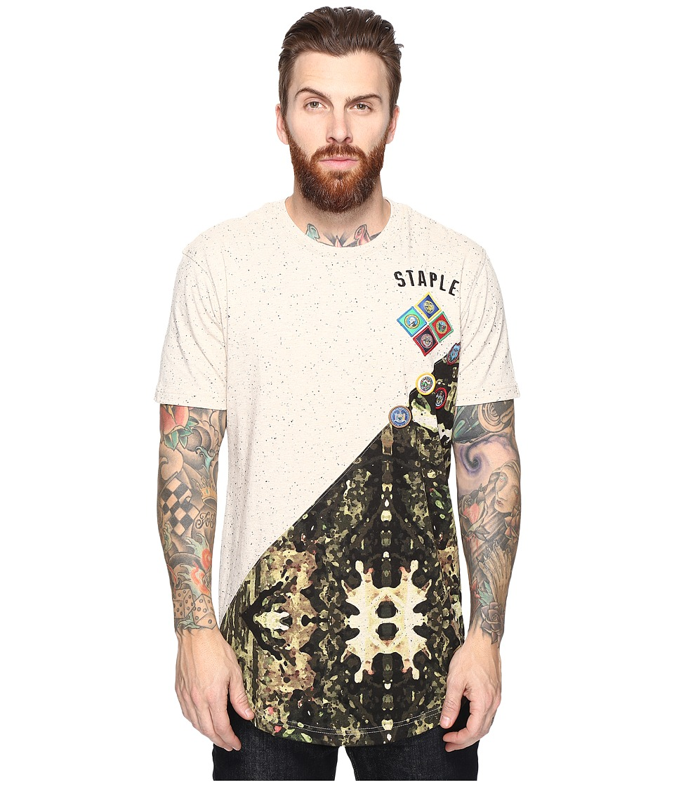 Staple - Forest Camo Split Tee (Oatmeal Heather) Men's T Shirt