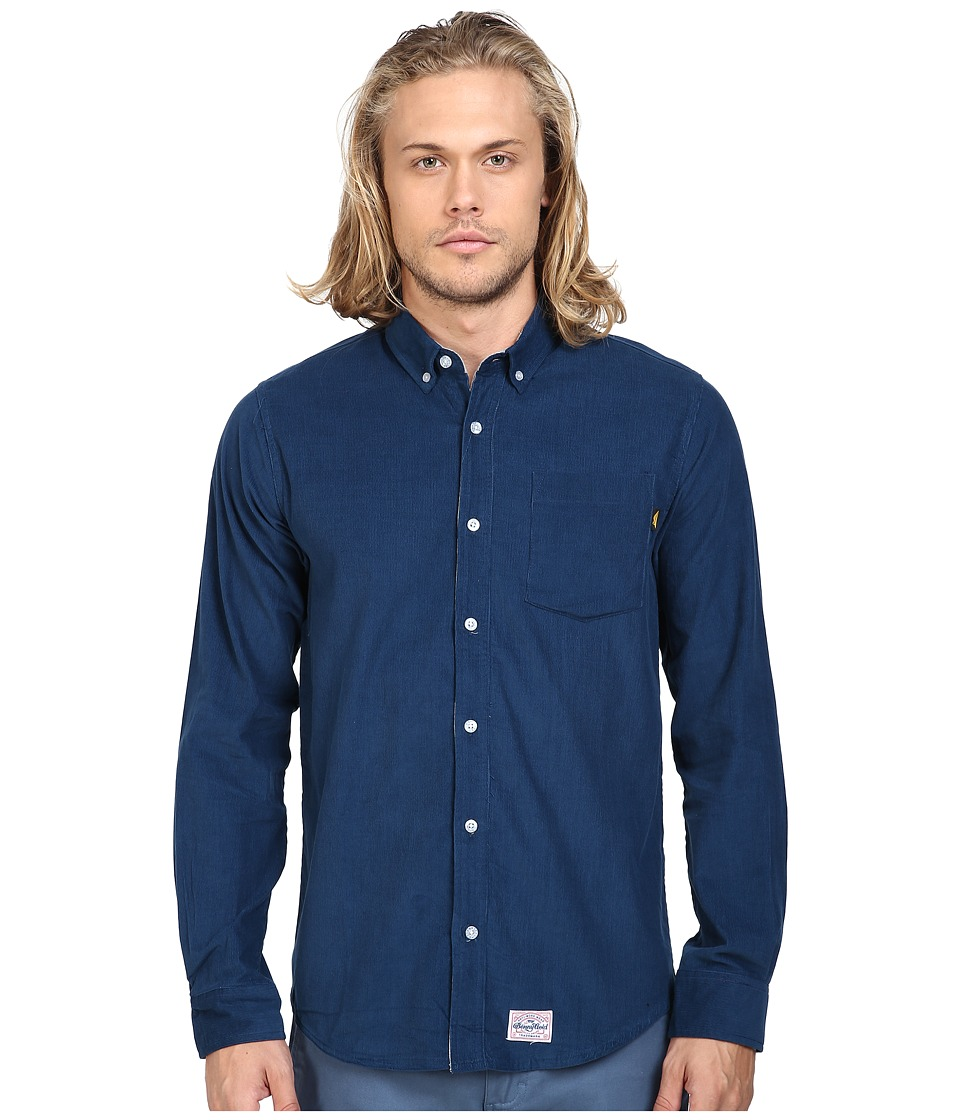 Benny Gold - Shepard Corduroy Long Sleeve Shirt (Navy) Men's Long Sleeve Pullover