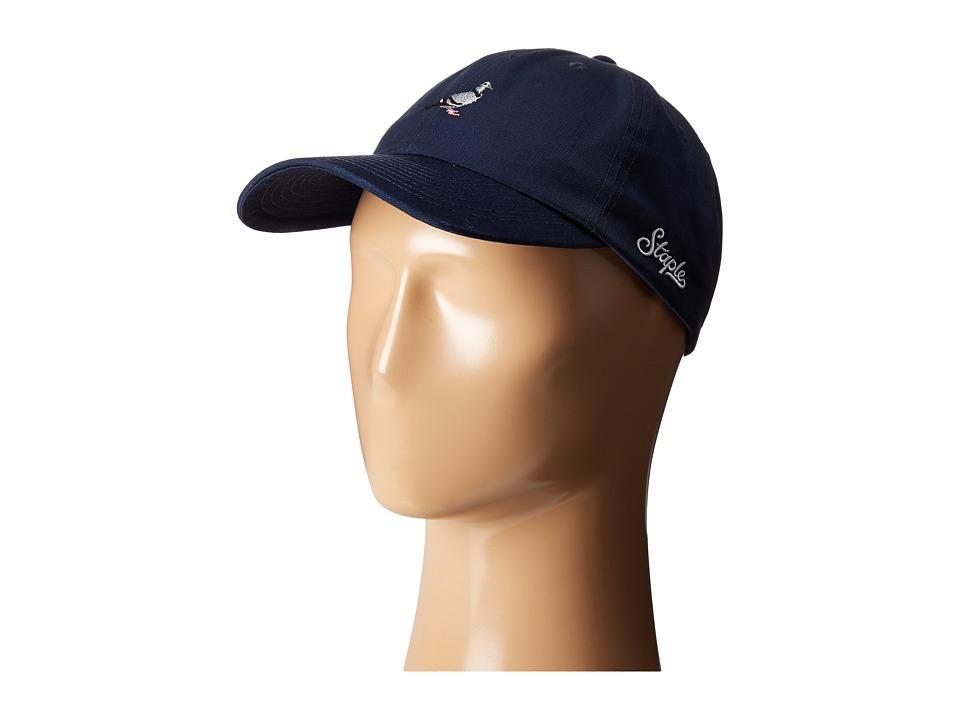 Staple - Pigeon Script Twill Cap (Navy) Caps