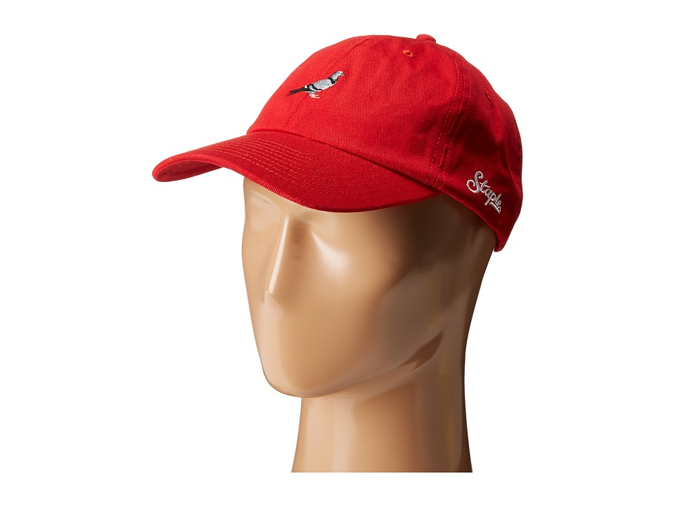 Staple - Pigeon Script Twill Cap (Red) Caps