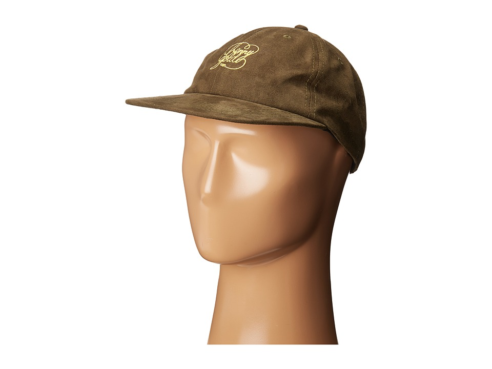 Benny Gold - Script Sueded Polo Hat (Army Green) Caps