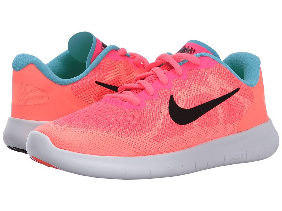 Nike Kids Free RN (Little Kid) (Racer Pink/Black/Lava Glow/Pure Platinum) Girls Shoes