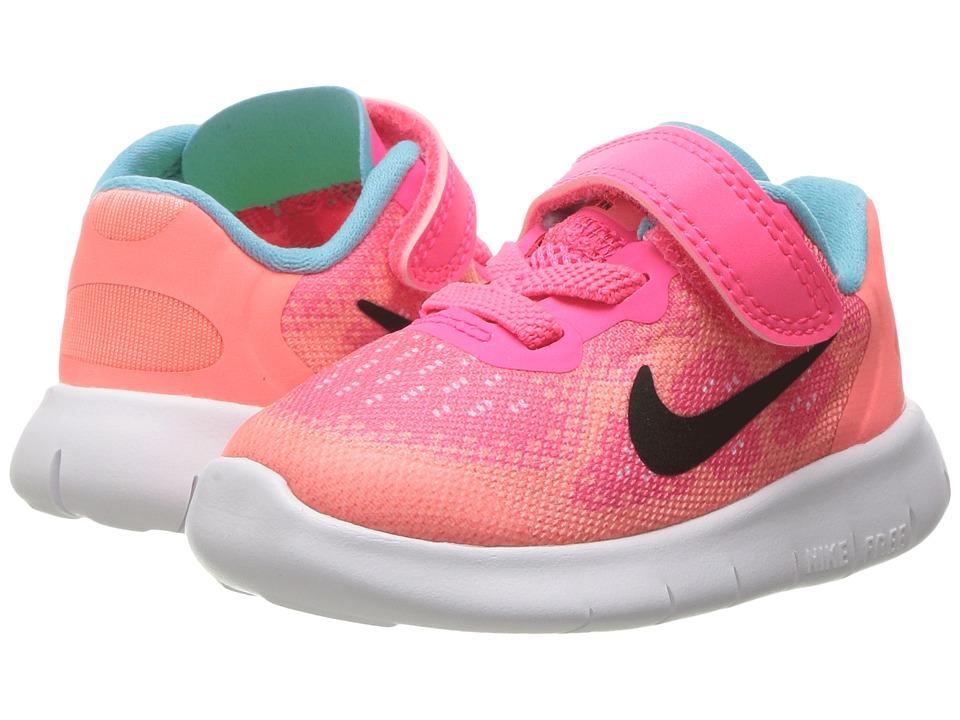 Nike Kids Free RN 2017 (Infant/Toddler) (Racer Pink/Black/Lava Glow/Pure Platinum) Girls Shoes