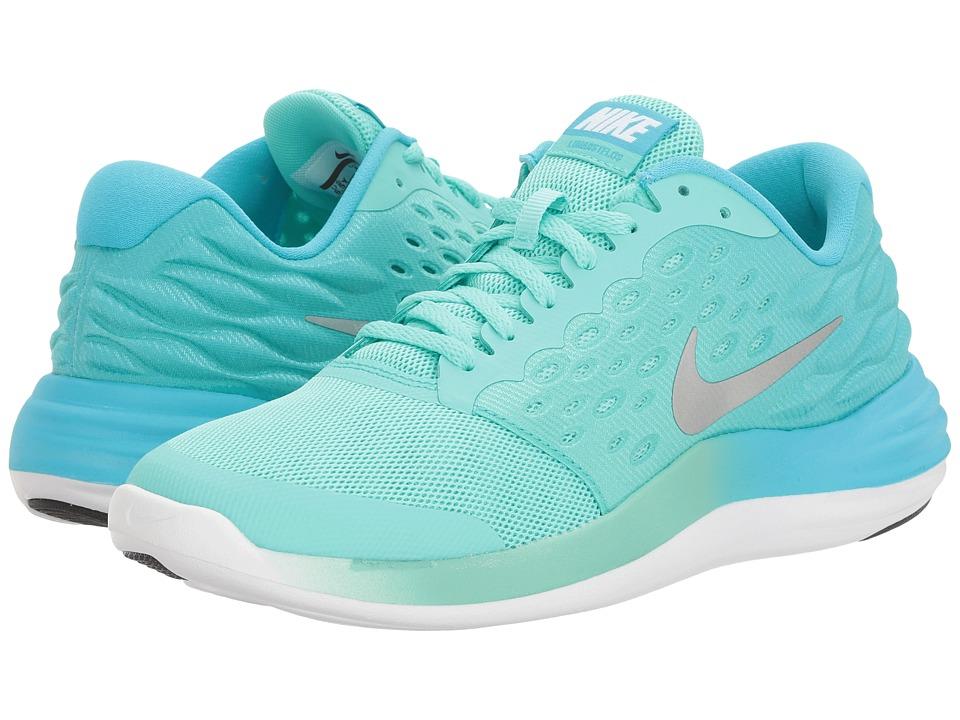 Nike Kids - Lunastelos (Big Kid) (Hyper Turquoise/Metallic Silver/Chlorine Blue) Girls Shoes
