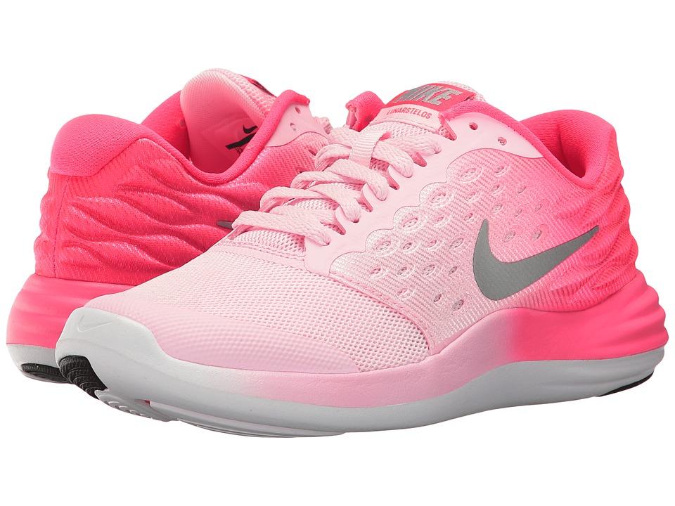 Nike Kids - Lunastelos (Big Kid) (Prism Pink/Metallic Silver/Racer Pink) Girls Shoes