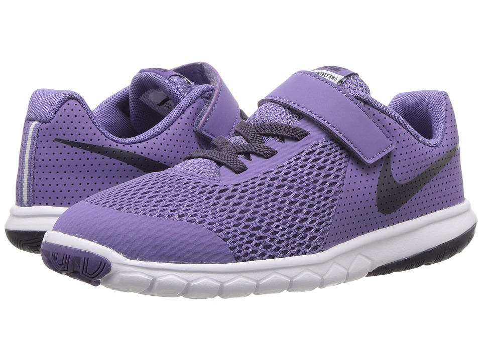Nike Kids - Flex Experience 5 (Little Kid) (Purple Earth/Dark Raisin/White) Girls Shoes