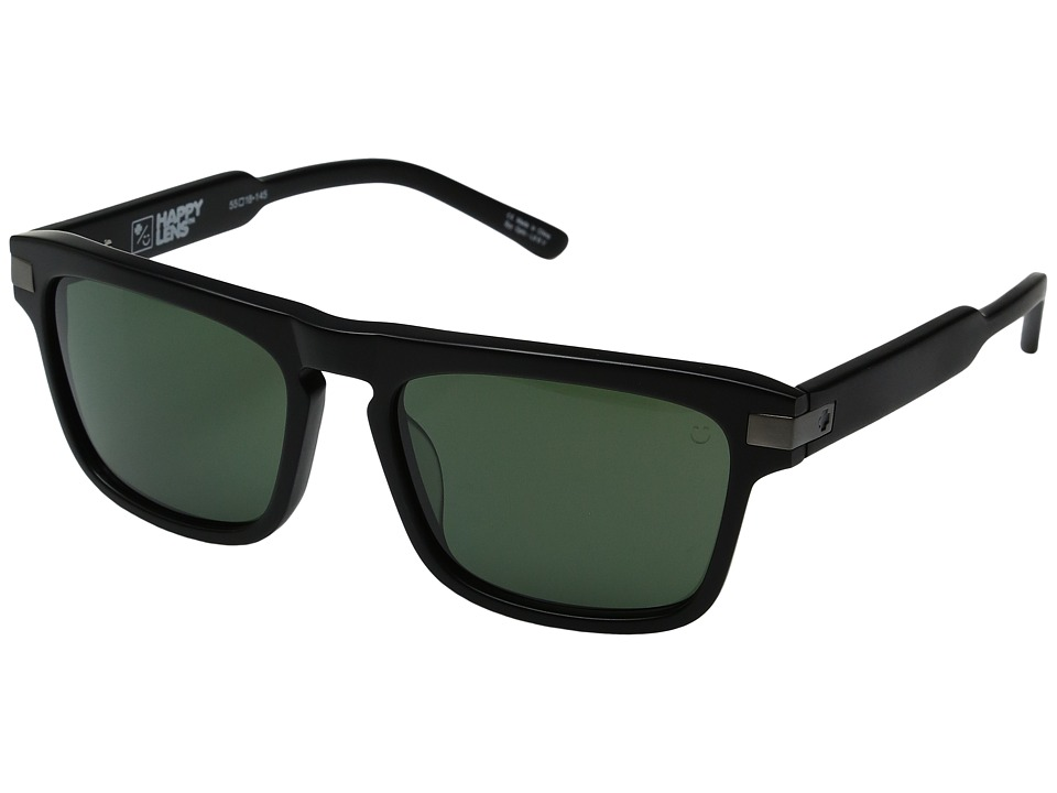 Spy Optic - Funston (Matte Black/Happy Gray Green) Fashion Sunglasses