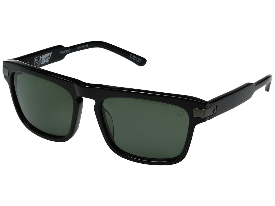 Spy Optic - Funston (Black/Happy Gray Green Polarized) Fashion Sunglasses