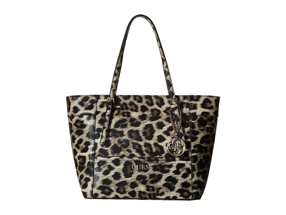 GUESS - Delaney Small Classic Tote (Leopard) Tote Handbags