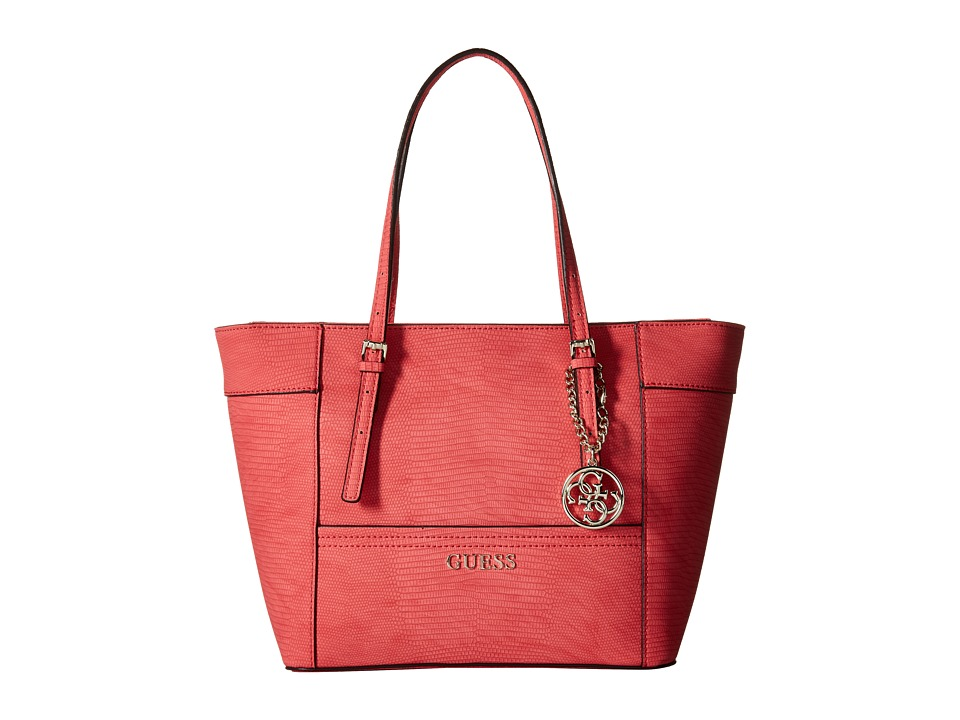 GUESS - Delaney Small Classic Tote (Passion) Tote Handbags
