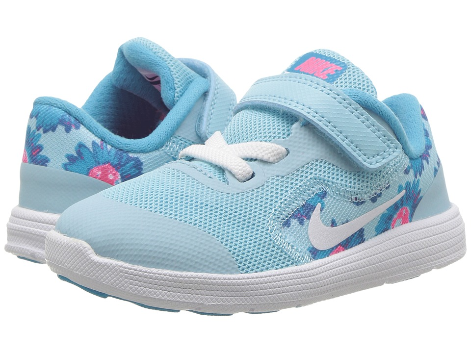 Nike Kids Revolution 3 Print (Infant/Toddler) (Still Blue/White/Chlorine Blue) Boys Shoes