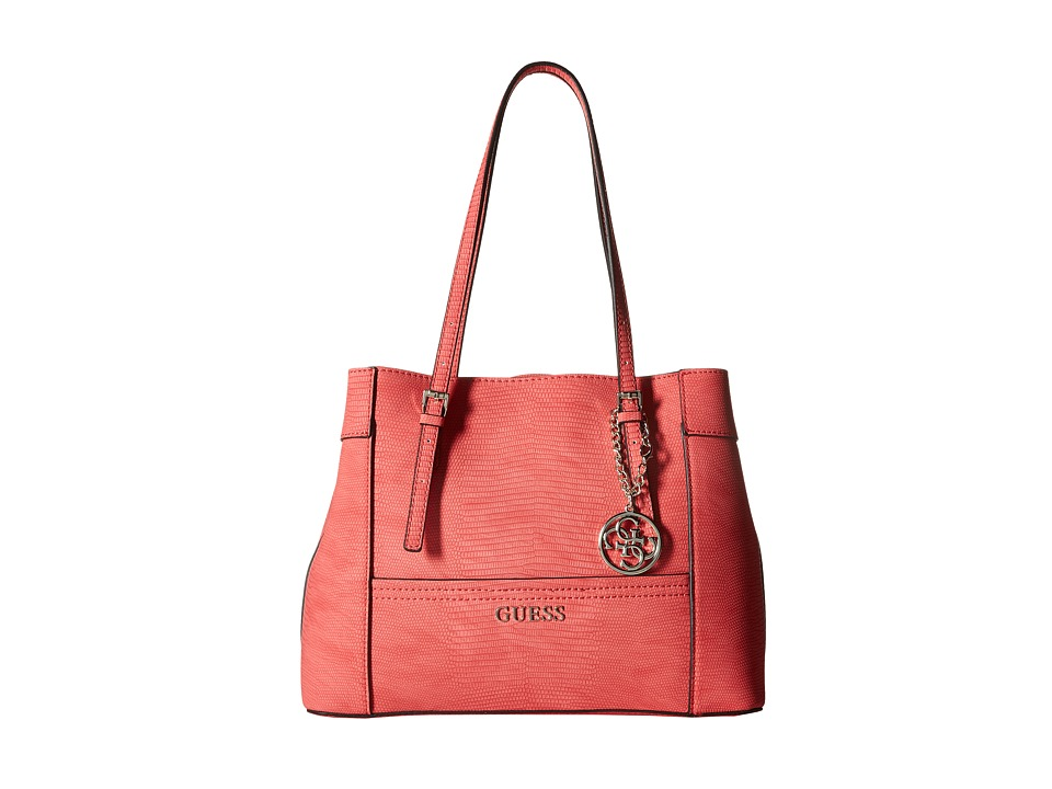 GUESS - Delaney Shopper (Passion) Handbags