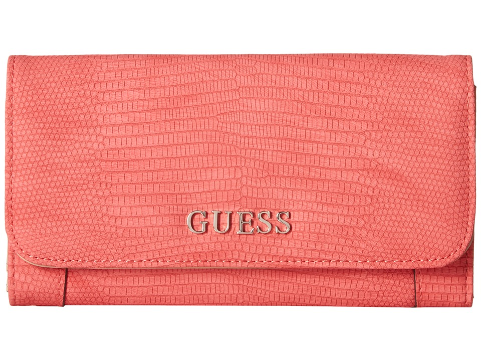 GUESS - Delaney SLG Slim Clutch (Passion) Clutch Handbags