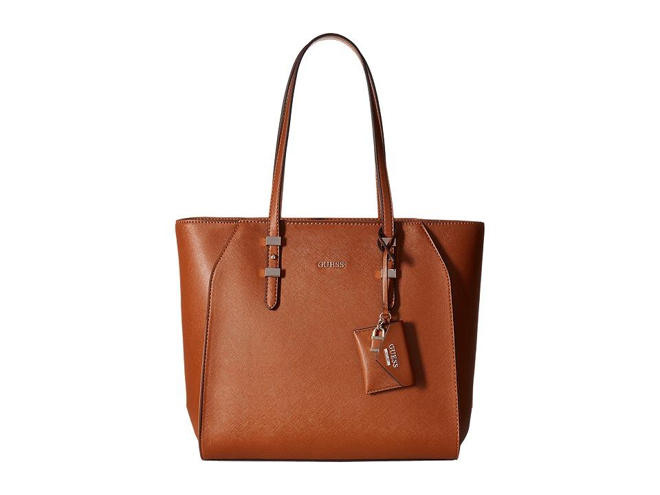 GUESS - Gia Tote (Cognac) Tote Handbags