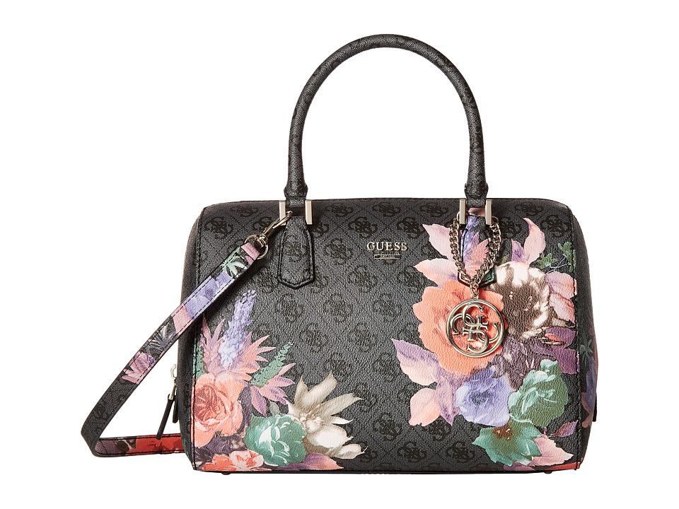 GUESS - Linnea Box Satchel (Coal) Satchel Handbags