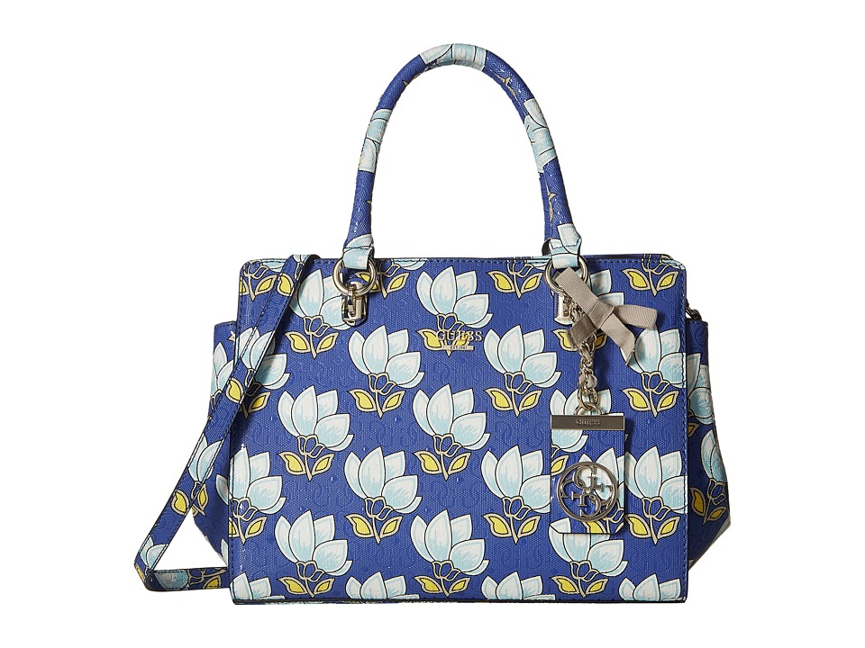 GUESS - Malena Satchel (Cobalt Multi) Satchel Handbags