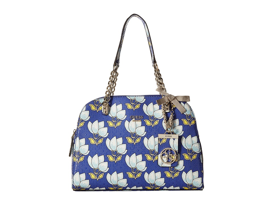 GUESS - Malena Cali Satchel (Cobalt Multi) Satchel Handbags