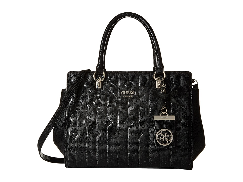 GUESS - Malena Satchel (Black) Satchel Handbags